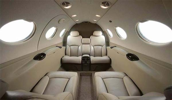 Interior of the mustang charter jet